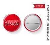 blank vector red badge with... | Shutterstock .eps vector #218921911