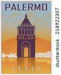 Palermo Vintage Poster In...