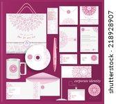 white corporate identity... | Shutterstock .eps vector #218928907