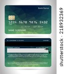 templates of credit cards... | Shutterstock .eps vector #218932369