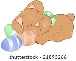 the easter bunny taking a nap. | Shutterstock . vector #21893266