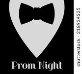 prom night black bow tie
