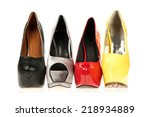 high heels shoes in different... | Shutterstock . vector #218934889
