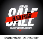 black friday sale banner. | Shutterstock .eps vector #218950489