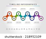 time line infographic and icons ... | Shutterstock .eps vector #218952109