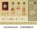 real estate infographics. | Shutterstock .eps vector #218968825