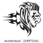 tattoo design of lion head ... | Shutterstock .eps vector #218972161