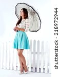 Romantic Beautiful Brunette...