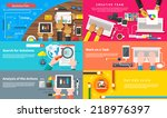 creative team. young design... | Shutterstock .eps vector #218976397