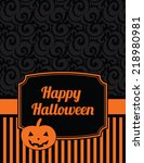 elegant striped halloween... | Shutterstock .eps vector #218980981