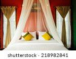 Stock photo bedroom in resort beautiful 218982841