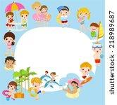 summer children background   Shutterstock .eps vector #218989687