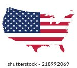high quality united states map... | Shutterstock .eps vector #218992069