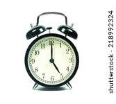 alarm clock on white background.... | Shutterstock . vector #218992324