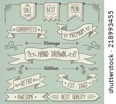 hand drawn scroll elements and... | Shutterstock .eps vector #218993455