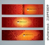 collection banner design ...   Shutterstock .eps vector #218993809