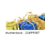 new year small gift boxes | Shutterstock . vector #21899587