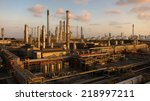 oil and gas refinery at... | Shutterstock . vector #218997211