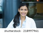 closeup headshot portrait of...   Shutterstock . vector #218997961