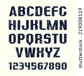 sanserif  font and numeral in... | Shutterstock .eps vector #219008119