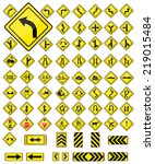 traffic signs signal collection ... | Shutterstock .eps vector #219015484