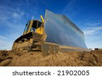 a large yellow bulldozer at a... | Shutterstock . vector #21902005