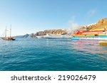 santorini july 28  ferrys... | Shutterstock . vector #219026479