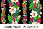 pattern of hibiscus | Shutterstock .eps vector #219028519