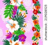 pattern of hibiscus | Shutterstock .eps vector #219028525