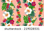 pattern of hibiscus | Shutterstock .eps vector #219028531