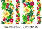 pattern of hibiscus | Shutterstock .eps vector #219028555