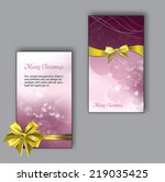 christmas greeting cards.  | Shutterstock .eps vector #219035425