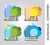 Flat Design Four Seasons Park...