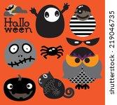 orange halloween | Shutterstock .eps vector #219046735