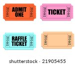 vector of several tickets with... | Shutterstock .eps vector #21905455