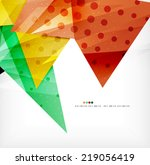 modern 3d glossy overlapping...   Shutterstock . vector #219056419
