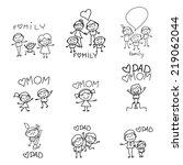 hand drawing cartoon character... | Shutterstock .eps vector #219062044