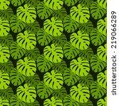 vector tropical seamless floral ... | Shutterstock .eps vector #219066289