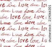 romantic calligraphy wallpaper. ... | Shutterstock .eps vector #219066301
