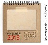 2015 calendar brown notebook... | Shutterstock . vector #219069997