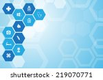 medical background and icons to ... | Shutterstock .eps vector #219070771