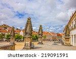 alcobaca monastery is a... | Shutterstock . vector #219091591
