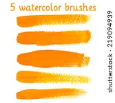bright watercolor brush vector... | Shutterstock .eps vector #219094939
