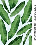banana leaf background vector... | Shutterstock .eps vector #219101371
