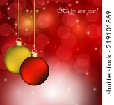 abstract christmas background | Shutterstock .eps vector #219101869