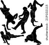 breakdance break dance | Shutterstock .eps vector #219102115