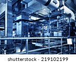modern boiler room equipment... | Shutterstock . vector #219102199