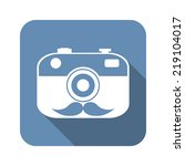 hipster  camera icon with...