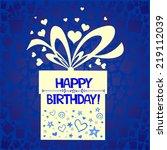 birthday card. celebration... | Shutterstock .eps vector #219112039