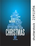 abstract christmas card with... | Shutterstock .eps vector #21911956
